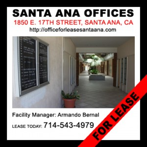 Find Santa Ana commercial real estate for lease in Santa Ana